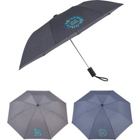 Auto Open Heathered Windproof Folding Umbrella