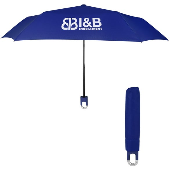 Royal Blue Clipper Compact Telescopic Umbrella