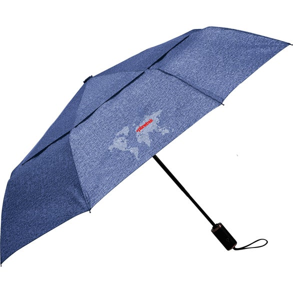 Navy Cutter and Buck Heathered AOC Vented Umbrella