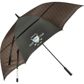 Cutter and Buck Plaid Golf Umbrella