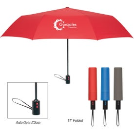 "Dual Button Telescopic Umbrella (43"")"