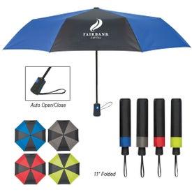 "Duet Colors Telescopic Folding Umbrella (43"")"