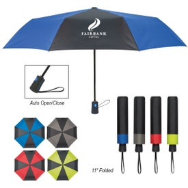 "Duet Colors Telescopic Folding Umbrella (43"")"