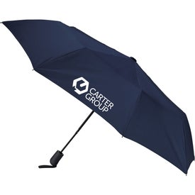 "Heathered Strap Auto Open Umbrella (42"" Arc)"