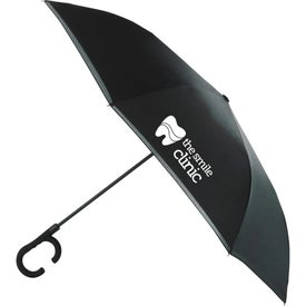 Inversion Auto Open Umbrella with C-Shape Handle