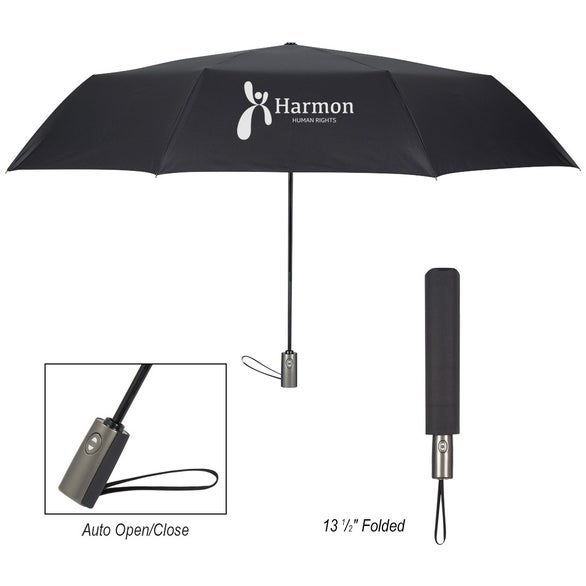 Black Telescopic Folding Colossal Umbrella