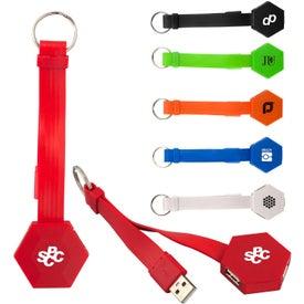 Noodle USB Hub Keychain