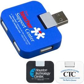Quadraport 4 Port USB 2.0 Mini Hub