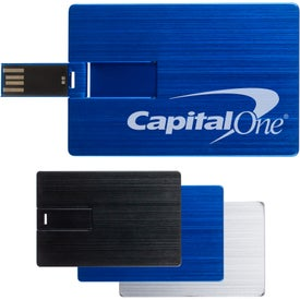 Aluminum Laguna Credit Card USB Flash Drive (4 GB)