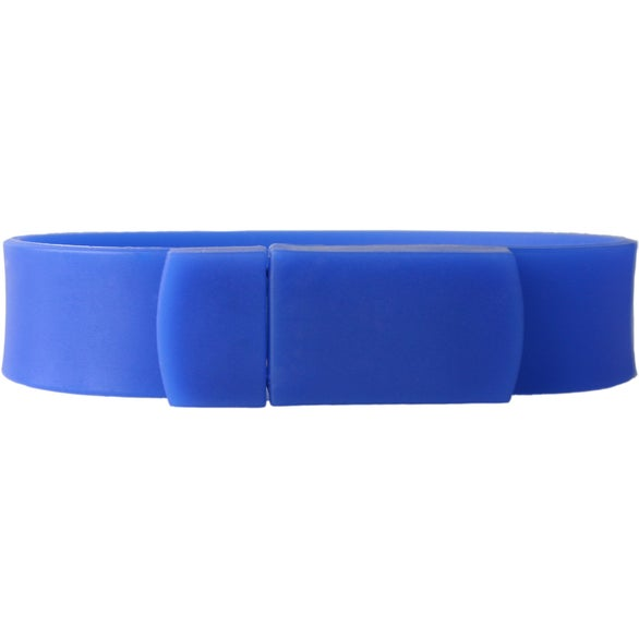 Blue Union Silicone Bracelet USB Flash Drive