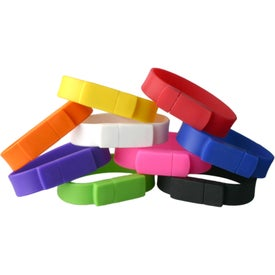 Union Silicone Bracelet USB Flash Drives (8 GB)