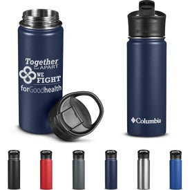 Columbia Double Wall Vacuum Bottle with Sip-Thru Top (18 Oz.)