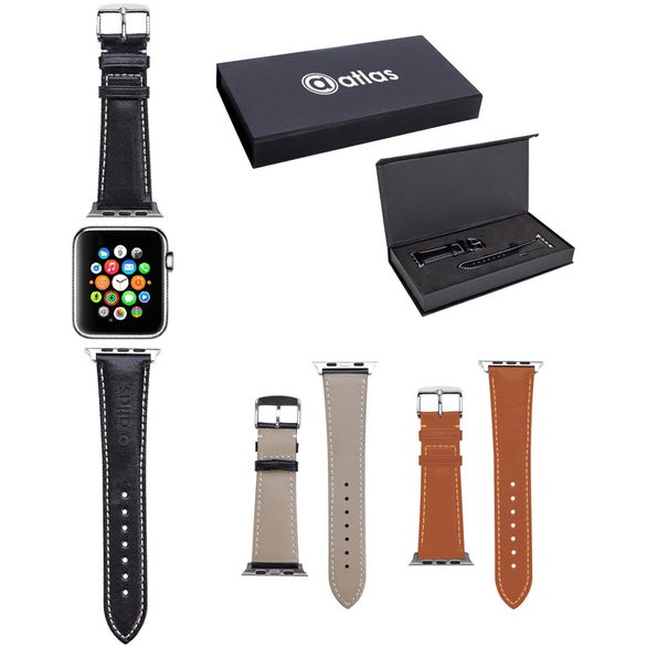 Black Prime Time Leather Watch Band
