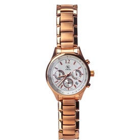 Rose Gold Finish Chronograph Watch (Women's)