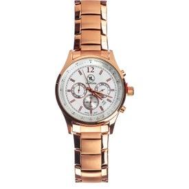 Rose Gold Finish Chronograph Watch (Men's)