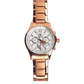 Rose Gold Finish Chronograph Watch