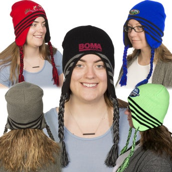 4b6a145a CLICK HERE to Order Acrylic Ski Beanie with Ear Flaps Printed with ...
