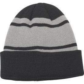 Acrylic Stripe Beanie with Cuff (Unisex)