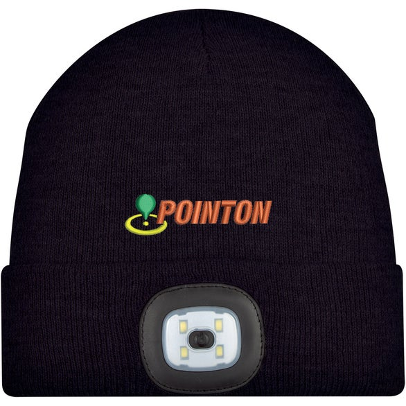 Black Beanie with LED Light