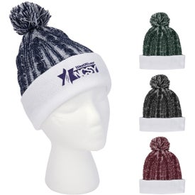 Casey Cable Knit Pom Beanie With Cuff (Unisex)