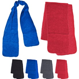 Fleece Scarf with Two Pockets