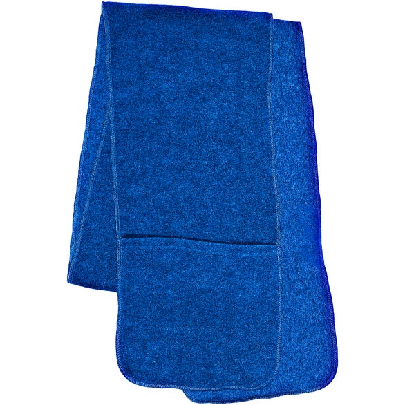 Reflex Blue Fleece Scarf with Pockets