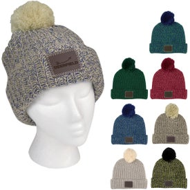 Grace Collection Pom Beanie With Cuff (Unisex)