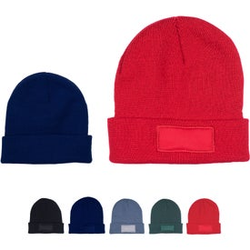 Knit Beanies with Patch (Unisex)