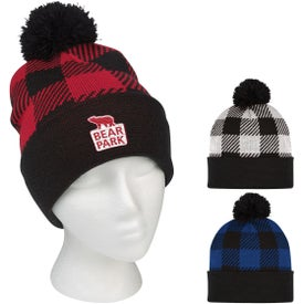 Northwoods Pom Beanies with Cuff (Unisex)