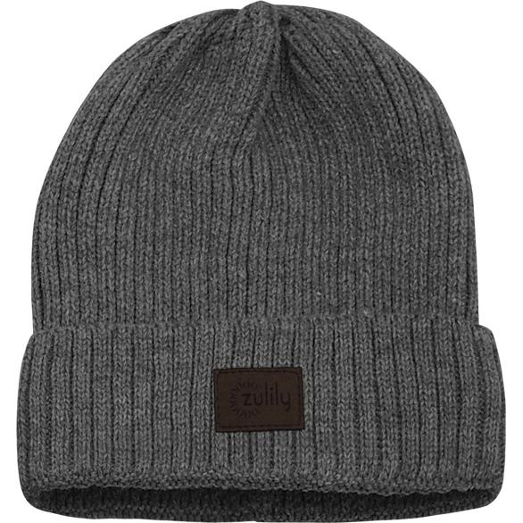 Charcoal Ripped Pattern Beanie