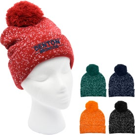 Speckled Pom Beanie With Cuff (Unisex)