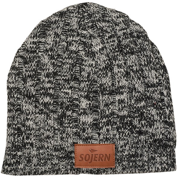 Gray Leeman Heathered Knit Beanie