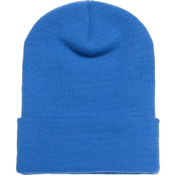 Carolina Blue Yupoong Adult Cuffed Knit Beanie